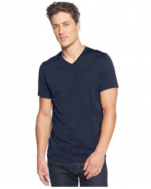 Alfani - Blue V-neck T-shirt for Men - Lyst