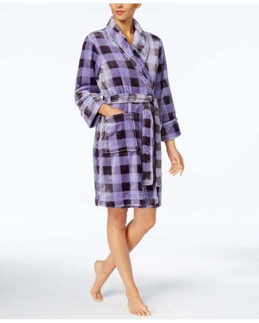 Charter Club - Purple Plaid Robe - Lyst
