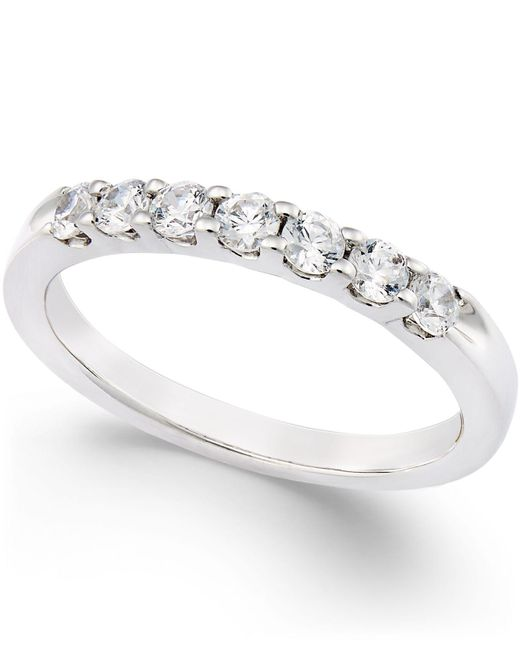 Macy's - Multicolor Certified Diamond Channel Ring In Platinum (1/2 Ct. T.w.) - Lyst