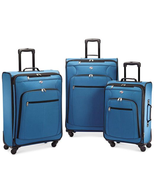 American Tourister - Blue Pop Plus 3-pc. Spinner Set - Lyst
