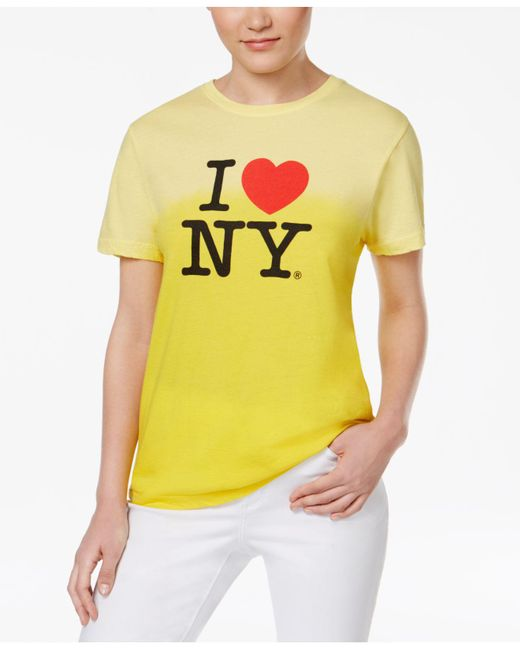 Macy's - Yellow I Love Ny Dip Dye T-shirt - Lyst