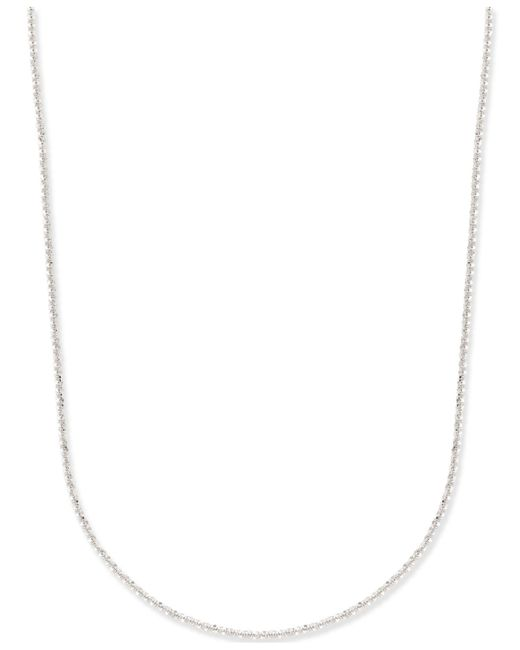 Macy's - Metallic Fancy-link Chain Necklace (1-1/2mm) In 14k White Gold - Lyst