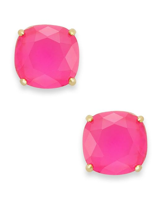 Kate Spade   Pink Square Stud Earrings   Lyst
