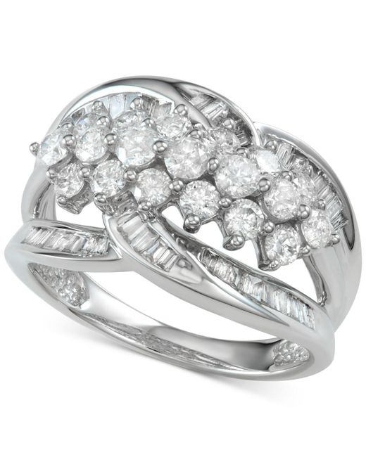 Macy's - Metallic Diamond Cluster Statement Ring (1-1/2 Ct. T.w.) - Lyst