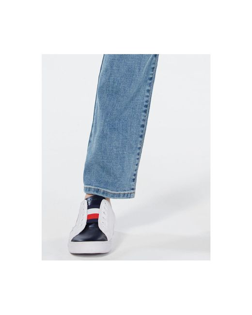 5ef779e62ad ... Tommy Hilfiger - Blue Patch-detail Straight-leg Jeans