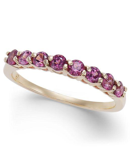 Macy's | Purple Rhodolite Band (3/4 Ct. T.w.) In 14k Gold | Lyst
