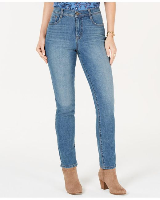 Style & Co. - Blue Tummy-control Straight-leg Jeans, Created For Macy's - Lyst