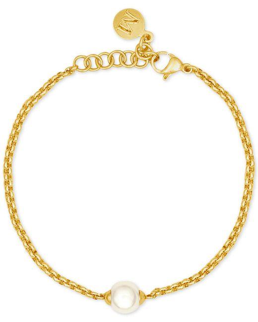 Majorica - Metallic Gold-tone Imitation Pearl Bracelet - Lyst