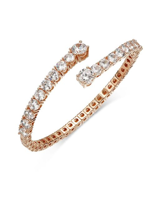Joan Boyce - Pink Crystal Flex Bangle Bracelet - Lyst
