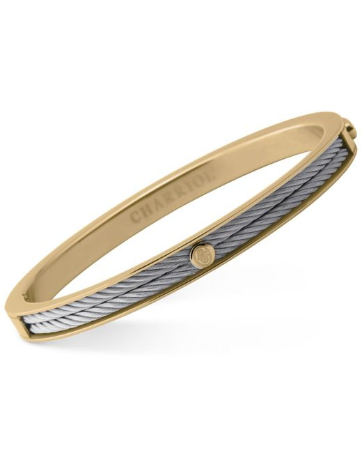 Charriol - Multicolor Women's Forever Two-tone Pvd Stainless Steel Cable Bangle Bracelet - Lyst