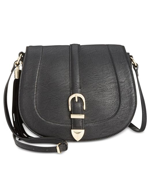 INC International Concepts | Black Madelynn Belt Small Saddle Bag | Lyst