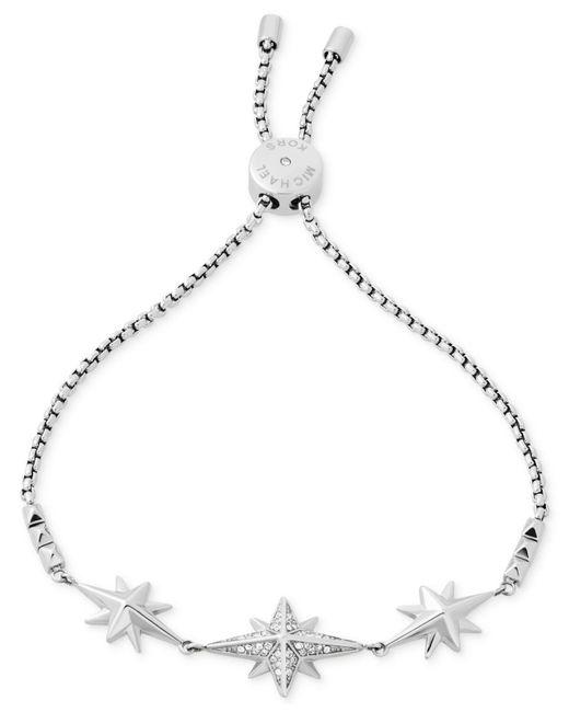 Michael Kors | Metallic Black Ion-plated Starburst Pavé Slider Bracelet | Lyst