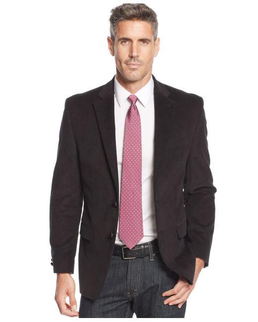 lauren by ralph lauren big and tall elbow patch corduroy sport coat in black for men save 67. Black Bedroom Furniture Sets. Home Design Ideas