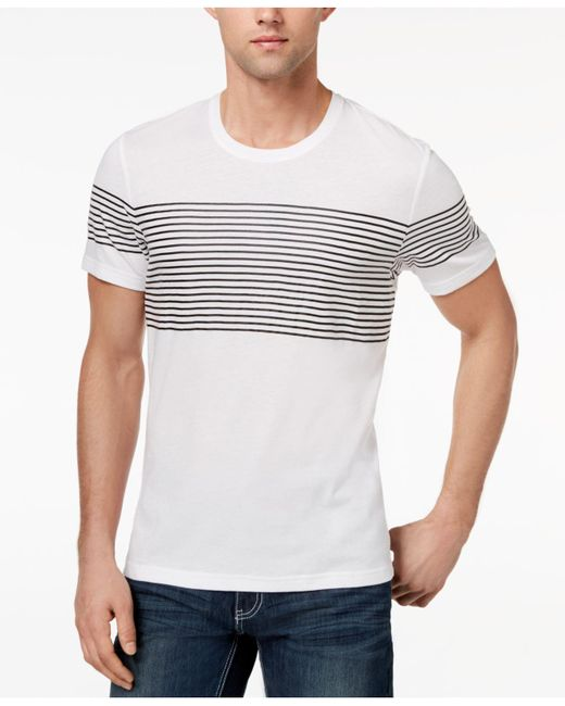 INC International Concepts - White Men's Introspection Striped T-shirt for Men - Lyst