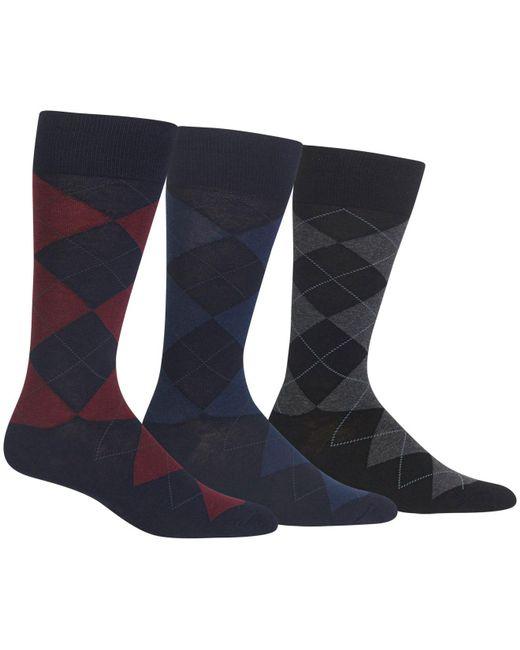 Polo Ralph Lauren - Blue Men's Socks, Extended Size Argyle Dress Men's Socks 3-pack for Men - Lyst