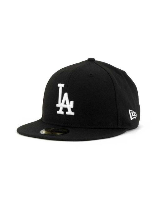 KTZ - Black Los Angeles Dodgers B-dub 59fifty Cap for Men - Lyst