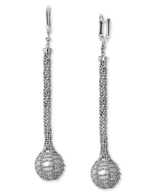 Effy Collection | Metallic Effy Pearl Cultured Freshwater Pearl Mesh Drop Earrings (12mm) In Sterling Silver | Lyst