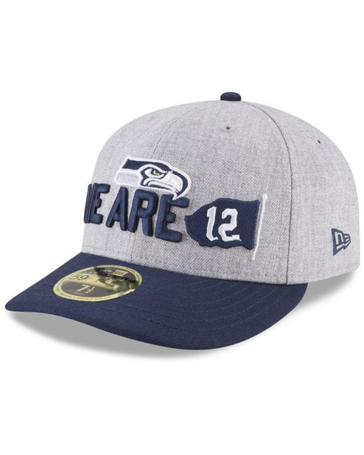 KTZ - Blue Seattle Seahawks Draft Low Profile 59fifty Fitted Cap for Men -  Lyst ... c0f3c7c92118