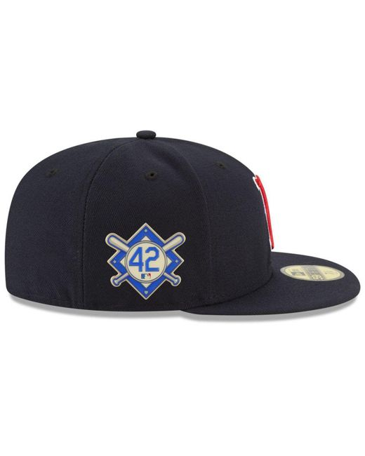 premium selection 1df01 8ebe4 ... KTZ - Blue Boston Red Sox Jackie Robinson Day 59fifty Fitted Cap for  Men - Lyst ...