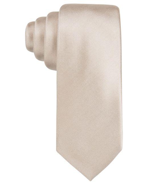 Alfani - Metallic Men's Solid Silk Slim Tie for Men - Lyst