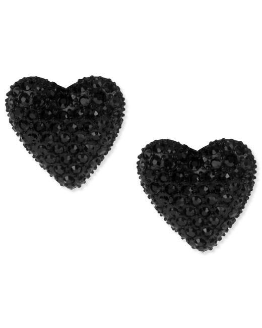 Betsey Johnson - Black Heart Stud Earrings - Lyst