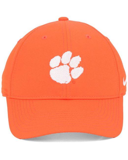 be863a7c353 ... Nike - Orange Clemson Tigers Dri-fit Adjustable Cap for Men - Lyst ...