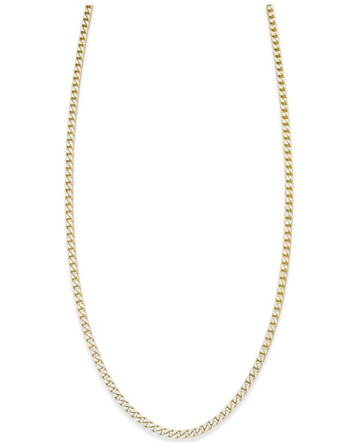 Macy's | Metallic Franco Diamond-cut Chain Necklace In 18k Gold-plated Sterling Silver | Lyst