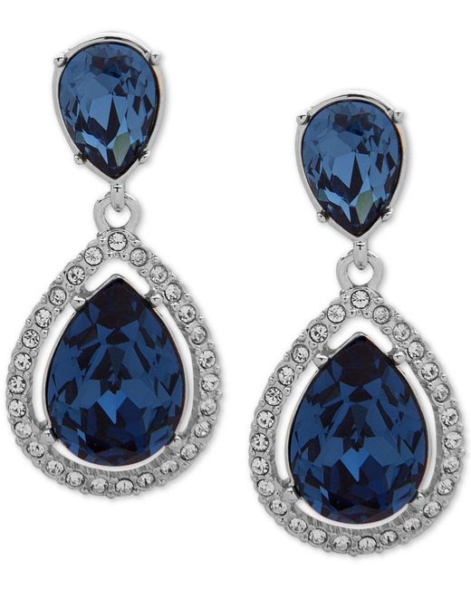 Givenchy - Crystal & Blue Crystal Post Drop Earrings - Lyst