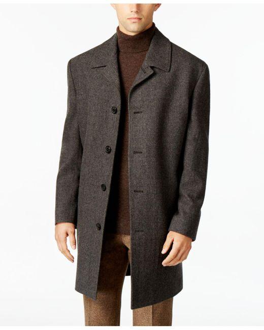 London Fog | Gray Coat, Coventry Wool-blend Overcoat for Men | Lyst