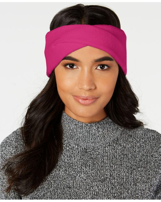 6526d3fea46 DKNY - Multicolor Twisted Ribbed-knit Headband