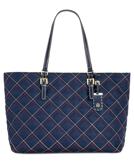 Tommy Hilfiger - Blue Julia Triple Quilted Nylon Extra-large Tote - Lyst