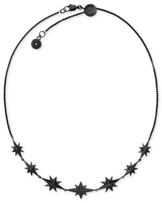 Michael Kors | Black Ion-plated Starburst Pavé Choker Necklace | Lyst