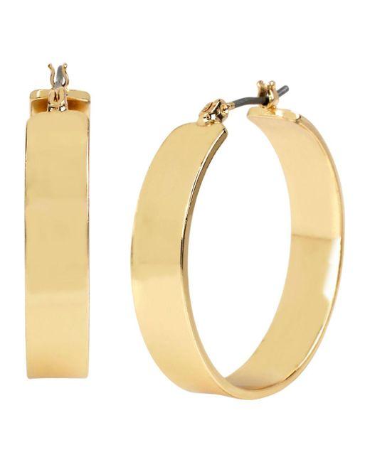 Women S Metallic Wide Hoop Earring