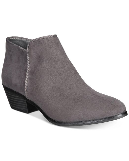 Style & Co.   Gray Wileyy Ankle Booties   Lyst