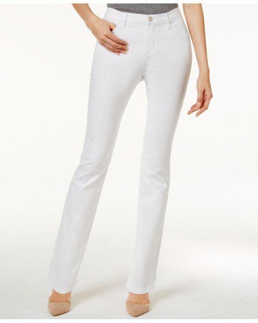 Lee Platinum - White Petite Gwen Classic Fit Straight-leg Jeans - Lyst