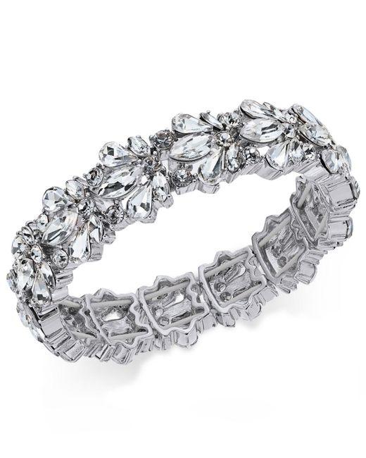 Charter Club | Metallic Crystal Stone Stretch Bracelet | Lyst