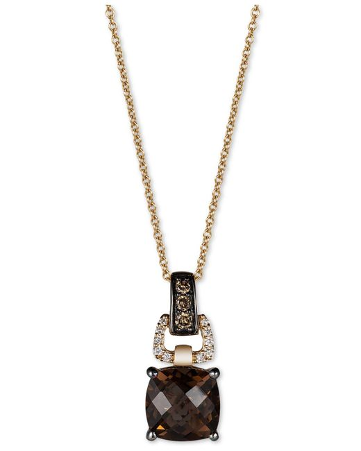 Le Vian - Metallic Chocolate Quartz (1-3/4 Ct. T.w.) And Diamond (1/10 Ct. T.w.) Pendant Necklace In 14k Gold - Lyst
