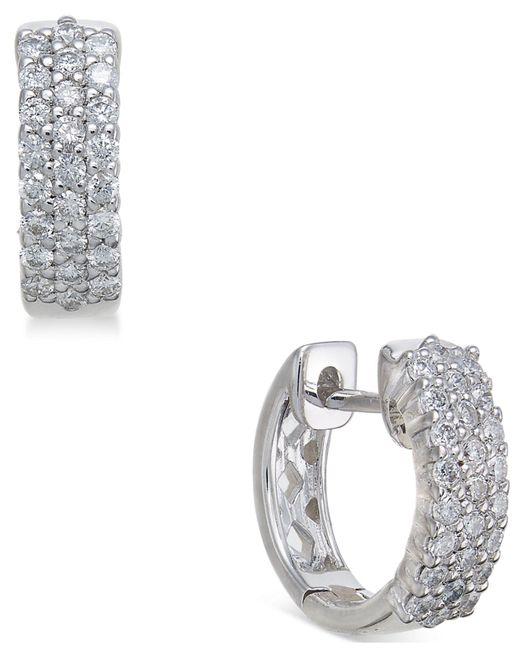 Macy's | Multicolor Diamond Hoop Earrings (1/2 Ct. T.w.) In 14k White Gold | Lyst