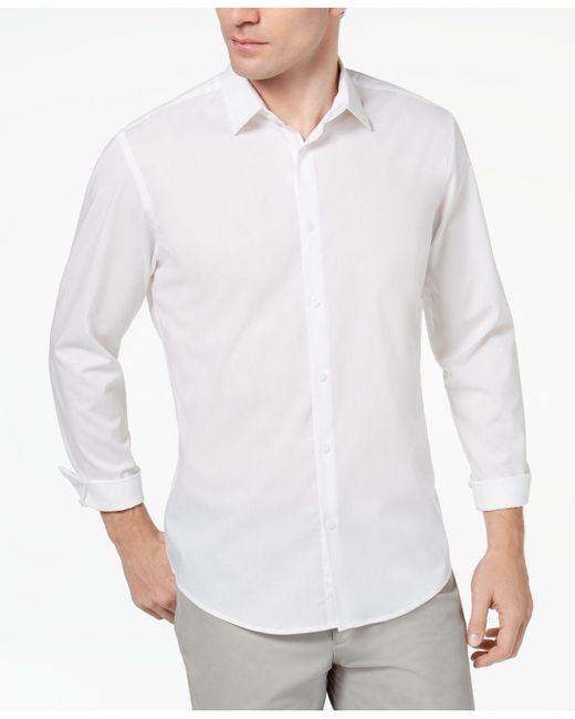 Alfani - White Modern Solid Shirt for Men - Lyst