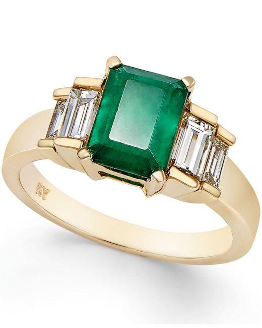 Macy's - Metallic Emerald (1-5/8 Ct. T.w.) And Diamond (3/4 Ct. T.w.) Ring In 14k Gold - Lyst