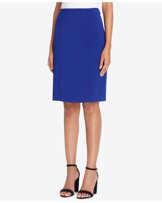 Tahari | Blue Pencil Skirt | Lyst