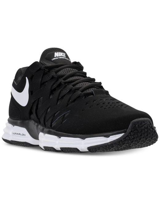 Nike - Black Men's Lunar Fingertrap Tr Wide 4e Training Sneakers From Finish Line for Men - Lyst