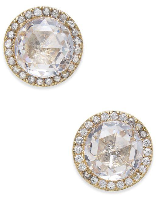Kate Spade | Metallic Pavé & Stone Stud Earrings | Lyst