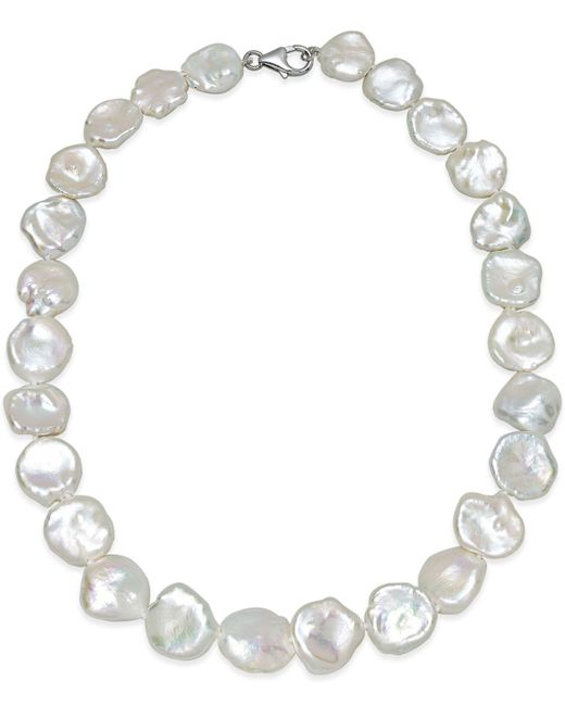 Macy's - White Cultured Keshi Pearl Collar Necklace (12-15mm) In Sterling Silver - Lyst