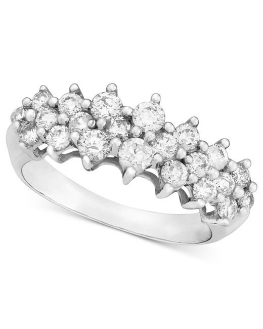 Macy's - 14k White Gold Ring, Diamond (1 Ct. T.w.) - Lyst