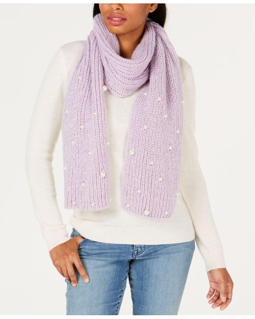 Betsey Johnson - Pink Imitation Pearl Jam Scarf - Lyst