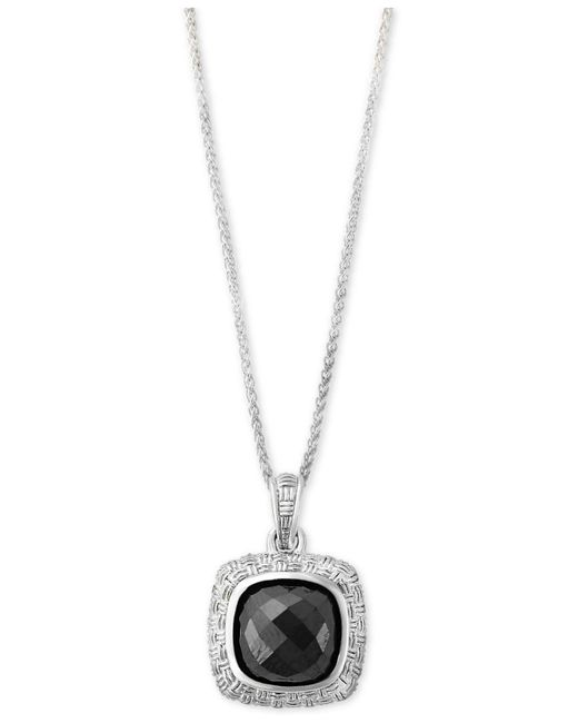 Effy Collection - Metallic Hematite (9 X 9mm) Pendant Necklace In Sterling Silver - Lyst