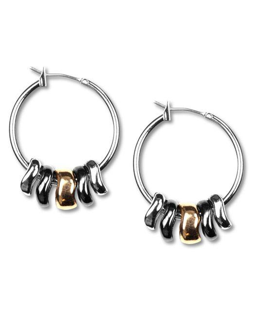 """Nine West - Metallic Earrings, Tri-tone Shaky 1"""" Hoop Earrings - Lyst"""
