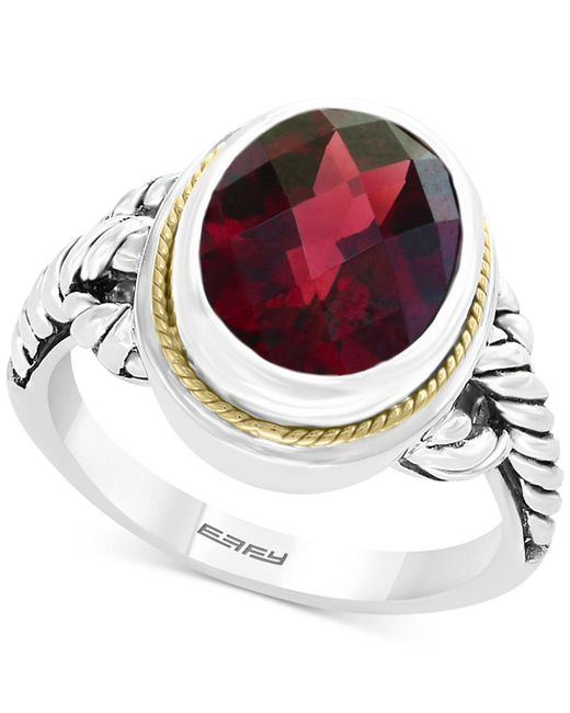 Effy Collection - Metallic Rhodolite Garnet Ring (3-9/10 Ct. T.w.) In Sterling Silver & 18k Gold - Lyst