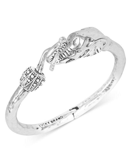Lucky Brand | Metallic Bracelet, Silver-tone Elephant Cuff Bracelet | Lyst